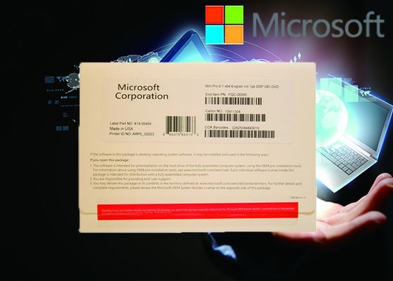 Pleine version Windows 8,1 systèmes multilingues milliseconde FQC personnalisable de la version 64Bit d'OEM de Pro Pack