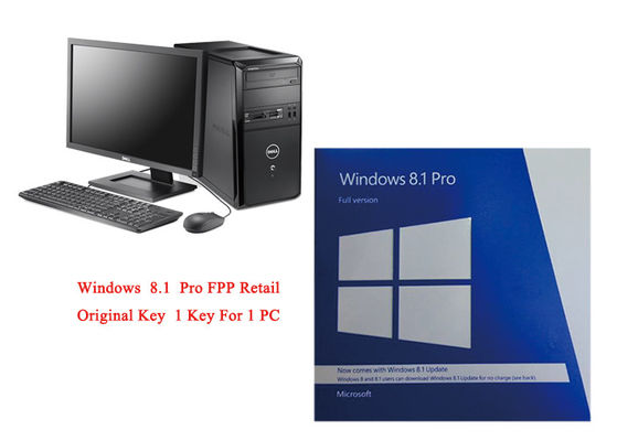 Logiciel de 64 bits de Microsoft Windows 8,1 de version de PC pleins le pro en ligne activent